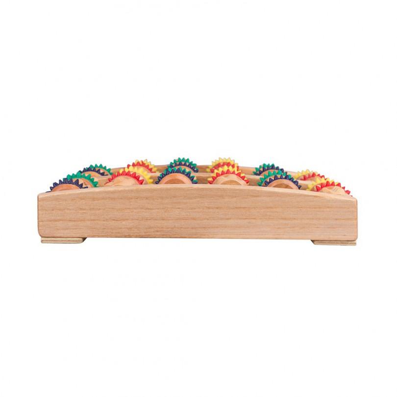 Drewniany masażer stóp do nóg 12 wałków Rangkai