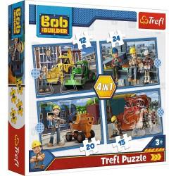 Trefl Puzzle 4w1 Pracowity...