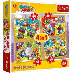 Trefl Puzzle 4w1 Super...