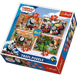 Trefl Puzzle 4w1 Tomek i...