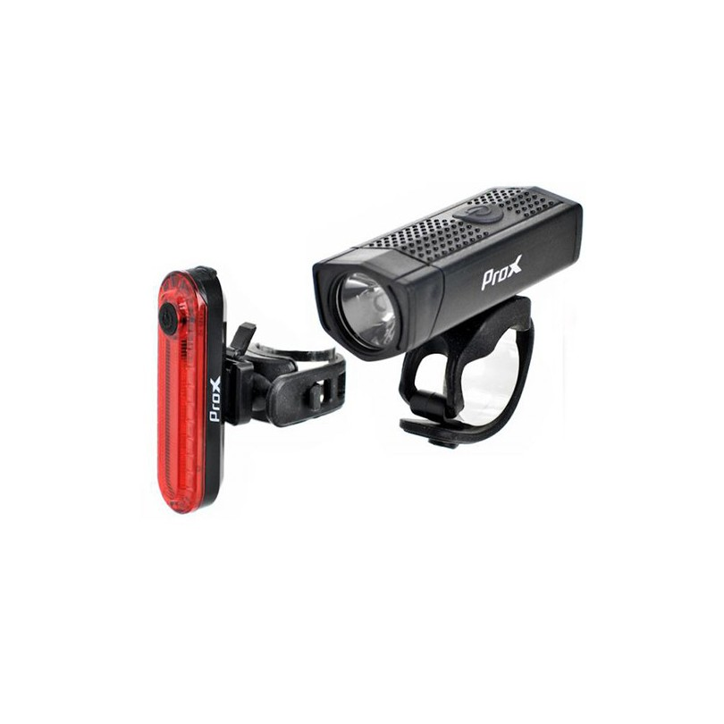 ZESTAW LAMPEK ROWEROWYCH PROX AERO PLUS USB 400 lm