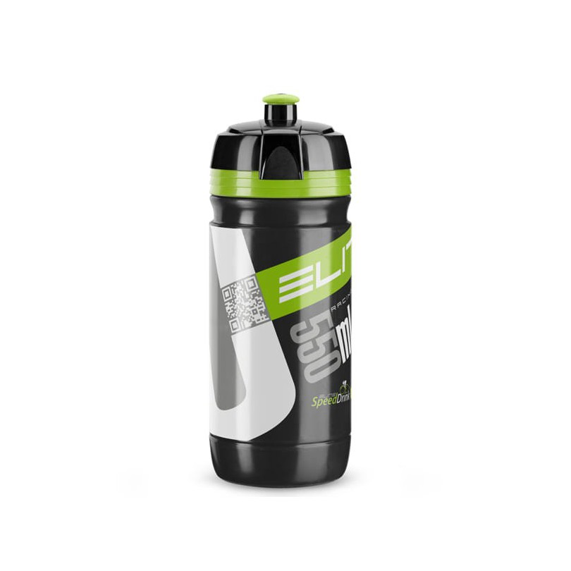 Bidon Elite Corsa Bio czarno-zielony 550 ml