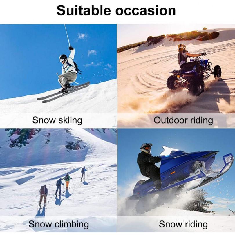 GOGLE ZIMOWE narty snowdoard SPORT + pokrowiec