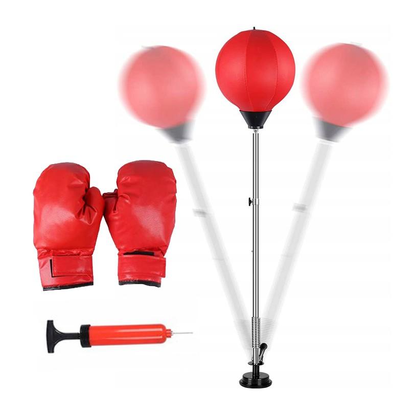 Zestaw bokserski stojąca gruszka worek + rękawice