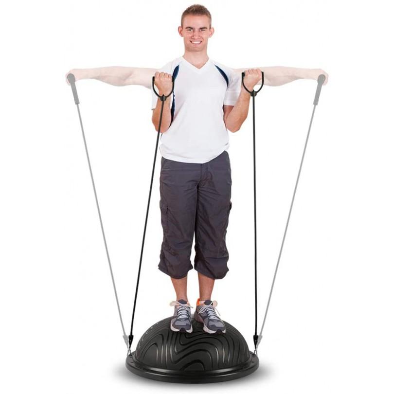 Piłka do balansowania trening równowagi z linkami + pompka