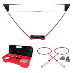 Zestaw do badmintona 4w1 walizka rakiety siatka