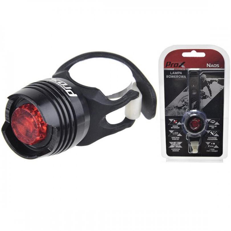 Lampka rowerowa tył PROX NAOS + baterie
