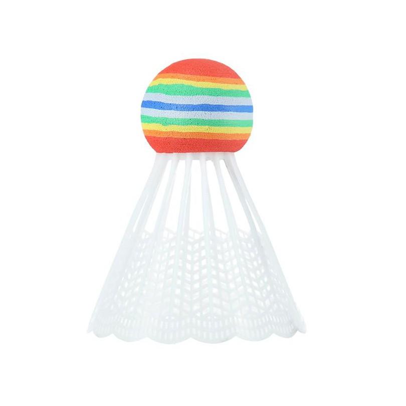 Lotki lotka do badmintona nylonowe NILS 3 sztuki białe