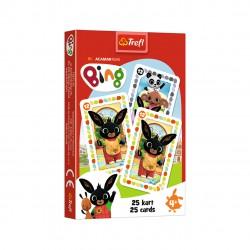 Gra dla dzieci karty Piotruś BING gra karciana TREFL