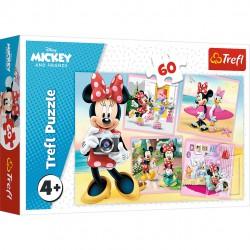 Trefl Puzzle Urocza Minnie Myszka Miki 60 elementów