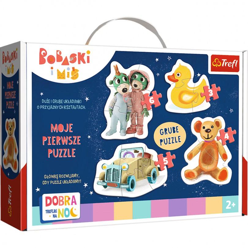 Trefl Puzzle Urocze Bobaski - Dobranoc Trefliki na noc 2+